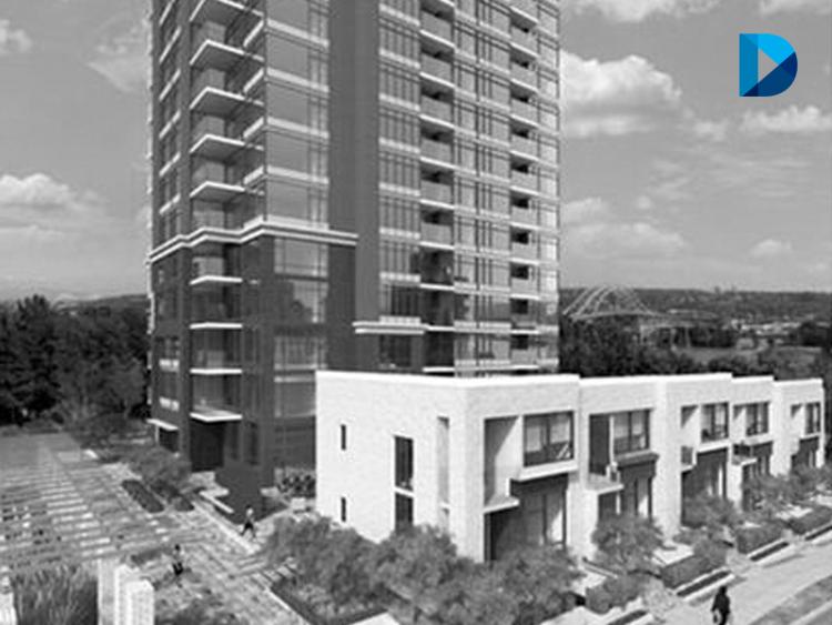 130 unit concrete high-rise condominium & townhouse development